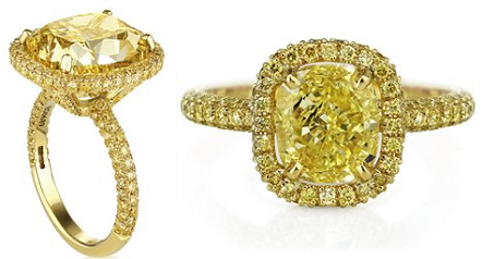 DeBeers Yellow Diamond Ring